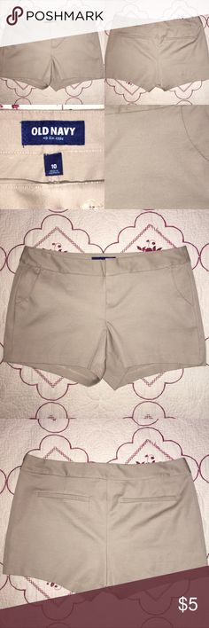 Khaki Shorts by Old Navy Old Navy khaki shorts in size 10. Only worn once for a work event to match my team. Old Navy Shorts