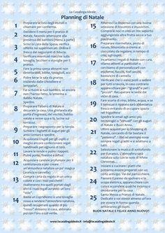 Planning di Natale - Check list - La Casalinga Ideale Pratica lista di cose da fare prima del 24 dicembre...
