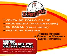 Venta de pollo en Tlaxiaco.
