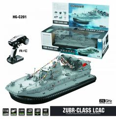 Professional Brushless Warship RC Model Ship Model Landing and water Remote Control Air Cushion Landing Craft