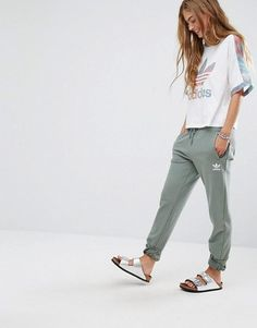 adidas Originals Sweat Pants In Khaki at asos.com - love the color