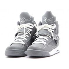 newest 03659 e4eea Nike air Flight 45 COOL GREY   WHITE Nike Air Jordans, Nike Skor Utlopp