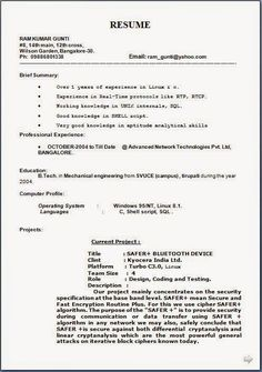 Successful Resume Templates Sample Templateexcellent Curriculum