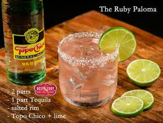 So refreshing! A Ruby Paloma with Deep Eddy Ruby Red Vodka and Topo Chico Grapefruit Vodka Drinks, Vodka Cocktails, Cocktail Drinks, Cocktail Recipes, Party Food And Drinks, Bar Drinks, Beverages, Deep Eddy Ruby Red, Paloma Recipe