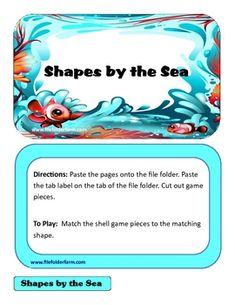 Students will love learning their shapes with this shapes file folder game. Find more FREE file folder games at www.filefolderfarm.comPlease le...