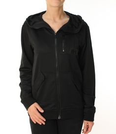"Alpinestars Women's Astars """"Combat Track Jacket"""" Full Zip Hooded LS Black"