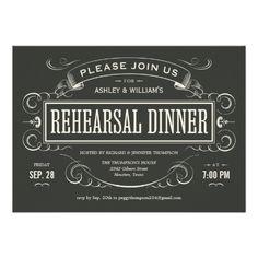 Unique Vintage Rehearsal Dinner Invitations