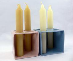 Candelero 4 velas de CeramicaMartaDanes en Etsy
