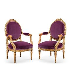 Armchairs in the Louis XVI Manner, ca. 1870