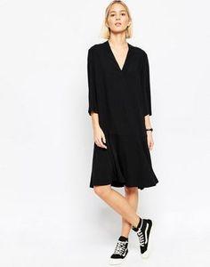 ASOS WHITE Flippy Skirt Midi Dress