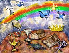 #Christian #Symbolism.  #DigitalArt #spiritual #God #Jesus #religioussymbols #Bible #childofgod #stilllifeart