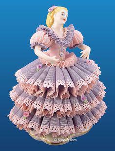 QVC Irish Dresden Lace Figurines | Irish Dresden Lace Girl Figurine - Samantha
