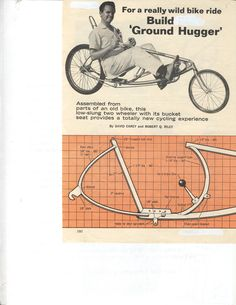 Bicycle recumbent, vintage plans of all kinds on this web site. Kool.