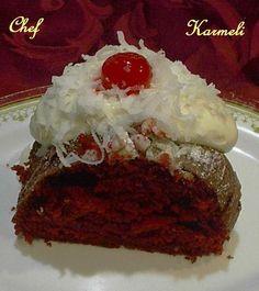 Cake red velvet. Ver Receta: http://www.mis-recetas.org/recetas/show/26272-cake-red-velvet