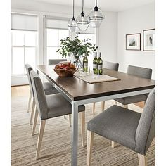 Portica Table with Walnut Top - Modern Dining Room Furniture - Room & Board