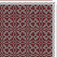 Hand Weaving Draft: Threading Draft from Divisional Profile, Tieup: , Draft #24822, Threading: Weber Kunst und Bild Buch, Marx Ziegler, (167...