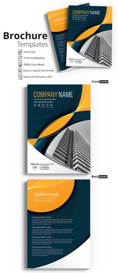 Brochure Cover Layout with Dark Blue and Orange Accents 5 - image | Adobe Stock #Brochure #Business #Proposal #Booklet #Flyer #Template #Design #Layout #Cover #Book #Booklet #A4 #Annual #Report| Brochure template | Brochure design template | Flyers | Template | Brochures | Flyer Background | Background design | Business Proposal | Proposal Design | Booklet | Professional | Professional - Proposal - Brochure - Template