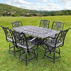 Grand Tuscany Counter Height Dining Set by Hanamint | Family Leisure