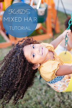 Mixed Hair Care: Tips for biracial hair care, hair washing, and a step-by-step guide to getting beautiful moisturized curls. Teach your daughters to love their natural hair. Natural hair care for kids. #naturalhairkids