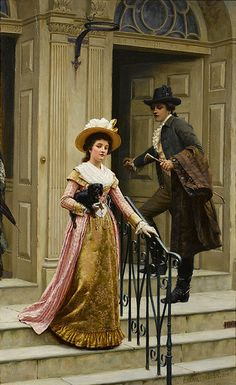 "Edmund Blair Leighton (1853-1922), ""My next door neighbour"""