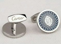 CARTIER CUFFLINKS WEALTHY LOOK EDITION DOUBLE C