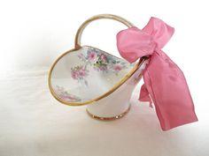 Nippon Porcelain Basket Hand Painted by ShoppeAroundTheWorld