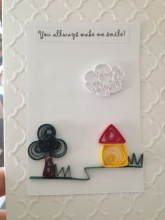 Friendship quilling card