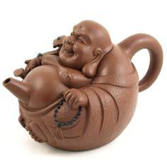 Brown Laughing Buddha Chinese Yixing Clay Tea Pot 21 ounces : Amazon.com : Kitchen & Dining