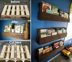 Pallet Shelf Ideas An Easy DIY With Video Tutorial