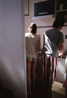 Making breakfast together