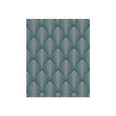 Tribal Diamonds: 50-191 Graham & Brown Soprano: Teal wallpaper Blue Geometric Wallpaper
