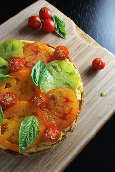 Tomato and Goat Cheese Polenta Tart