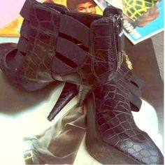 I just discovered this while shopping on Poshmark: Wow in this Look: Croc Embossed Cutout Booties. Check it out!  Size: 6