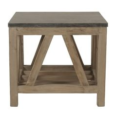 Shop for Albert Stone Brown Concrete and Wood End Table. Get free shipping at Overstock.com - Your Online Furniture Outlet Store! Get 5% in rewards with Club O!