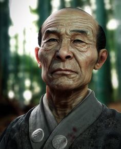Old Samurai  Created by Rodrigue Pralier, using ZBrush, 3ds Max and Photoshop.