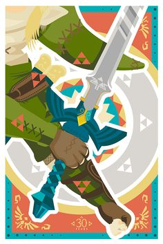 "- Inspired by The Legend of Zelda - Fine Art Giclee Print - Limited Edition of 30 - Approximately 12"" x 18"""