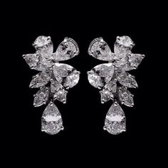 Real Diamond Earrings, Diamond Necklaces, Dangle Earrings, Metal Jewelry, Fine Jewelry, Jewelry Accessories, Fashion Accessories, Diamond Heart, Bridal Fashion