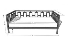 Rectangles Daybed - for my daughter when she moves up to a twin bed, later for guest room.