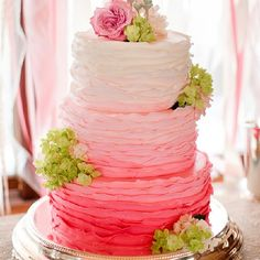 Pink and Green cake ♥ by Katelyn James Photography #Padgram
