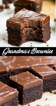 A thick, moist and fudgy brownie topped with a fudge like frosting. #brownies #cake #chocolate #fudgy #fudgybrownies #dessert