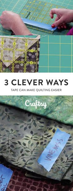 Tape can be super helpful throughout the quilting process. Check out our Quilt-Along host's favorite ways to use tape!