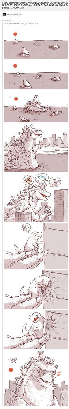 Godzilla On Take Your Child To Work Day