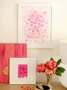 #DIY Lipstick Wall Art thanks to @People magazine magazine magazine magazine @Karen Jacot Jacot Darling Me Pretty