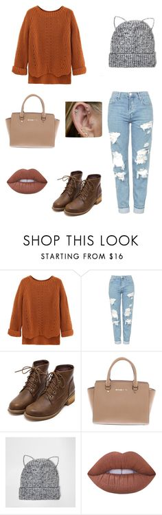 """"""""""" by emmie-thacker ❤ liked on Polyvore featuring Topshop, Michael Kors, River Island and Lime Crime"""