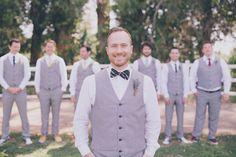gray groomsman looks http://www.weddingchicks.com/2013/09/25/rustic-summer-wedding/