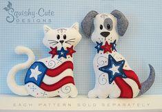 Cat Stuffed Animal Pattern  Felt Plushie by SquishyCuteDesigns,