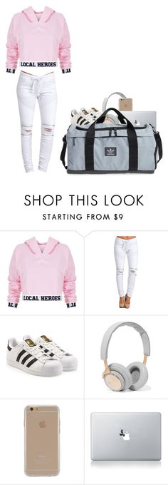 """""""Untitled #28"""" by alexandratahau on Polyvore featuring Local Heroes, adidas Originals, B&O Play, Agent 18 and Vinyl Revolution"""