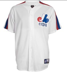 Montreal Expos Cooperstown Replica Jersey - j'en veux un! Nhl Apparel, Nba Store, Baseball Jerseys, Pro Baseball, Nfl Shop, Of Montreal, Sports Shops, Sport Outfits, Mlb