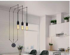 Aangepaste hanger licht kroonluchter. Opknoping hangers. Industriële verlichting. Het Decor van het Nordic huis. Moderne kroonluchter. Edison lamp. Vintage verlichting