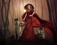 The Portrait with the Big Bad Wolf Revisited work from Remake into a slightly more 'traditional' piece. Little Red Riding Hood Red Riding Hood Wolf, Red Ridding Hood, Chris Martin, Pablo Picasso, Divas, Nfl, She Wolf, Big Bad Wolf, Digital Art Girl